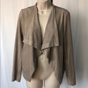 BB Dakota tan suede blazer, size S